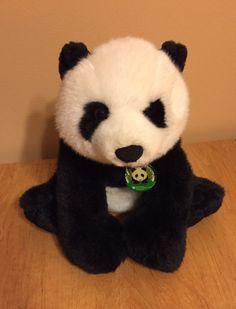 PANDA BEAR Smithsonian Tai Shan Plush Soft Stuffed Toy Black White w/Tag