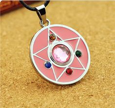 2015 hot Online Titanium Steel chain Jewelry Pendant Valve Sailor Moon Sign Necklace Around the Turret free shipping
