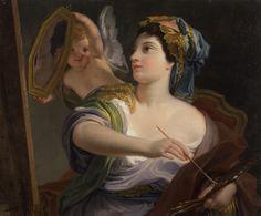 Allegory of Painting (1764).Domenico Corvi (Italian, 1721-1803)