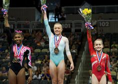 2014 P&G National Championships. 1st place AA Jazmyn Foberg, 2nd place Nia Dennis, 3rd Place Norah Flatley.