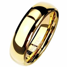 Tungsten Gold Wedding Band Handfasting Promise Anniversary Ring Sizes 5-13 6mm #FantasyForgeJewelry