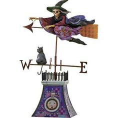 "halloween weathervanes | ... Jim Shore Halloween Collection ""Comes the Storm"" Witch Weathervane"