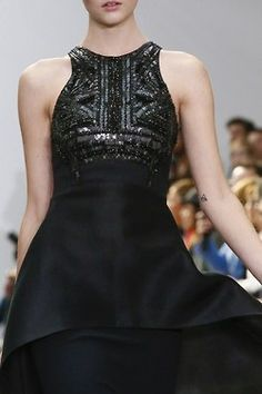 Antonio Berardi 2013   Can you imagine how great this would look with a great pair of Premier earrings?