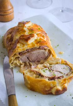 This pork tenderloin in a puff blanket is sure to become a family favorite! | eatwell101.com