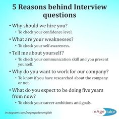 Ever wondered what interviewers think when they ask these questions? Here are so… – Education is important Job Interview Answers, Job Interview Preparation, Common Interview Questions, Interview Skills, Job Interview Tips, Job Resume, Resume Tips, Resume Writing Tips, Writing Skills