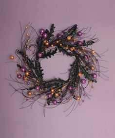 Take a look at this Halloween Wreath by Haunted House: Decorations on #zulily today!