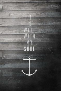 We have this hope as an anchor for the soul, firm and secure. - Hebrews 6:19
