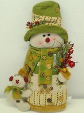 Love this snoman dressed in Lime green colors just right for Whoville decor! Christmas Decoupage, Felt Christmas, Christmas Snowman, Holiday Ornaments, All Things Christmas, Christmas Decorations, Sock Snowman, Cute Snowman, Holiday Crafts