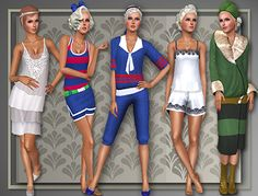 Mini 20's wardrobe for Roaring Heights by Judie - All About Style - Sims 3 Downloads CC Caboodle