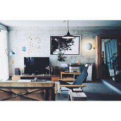 オーディオ/スピーカー/レコードプレーヤー/ニーチェア/照明/観葉植物…などのインテリア実例 - 2015-10-06 23:22:44 | RoomClip(ルームクリップ)