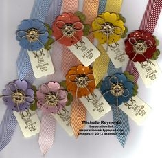"""My version of 3/4"""" Chevron Ribbon bookmarks that Pam Morgan showed at Stampin' Up! Convention.  Uses Gorgeous Grunge and Occasions Alphabet."""