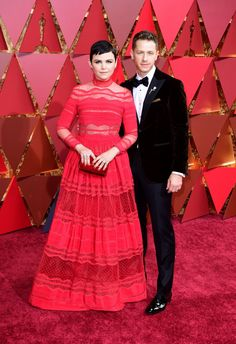 From 'Once Upon a Time' co-stars (and real-life husband and wife) Ginnifer Goodwin and Josh Dallas to Ryan Gosling and his sister, there were a lot of eye-catching couples on the 2017 Oscars red carpet. Jamie Dornan's wife Amelia Warner looked breathtaking in a lilac caped gown, Mel Gibson's 26-year-old girlfriend Rosalind Ross stunned in a corset bodice – five weeks after giving birth – and Chrissy Teigen and John Legend appeared to be onthe best date of their lives. Which couple's your…