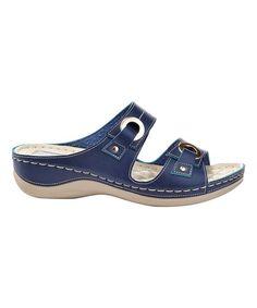 34a531269e9b97 Henry Ferrera Navy Comfort Forever Sandal - Women