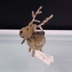 9bb8b672dac Felt Reindeer Ornament Queen West Trading Co Christmas Deer Primitive  Country