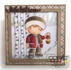 DT Elizabeth Utfordring #82 Copic Markers, Norway, Frame, Christmas, Home Decor, Blogging, Picture Frame, Xmas, Decoration Home