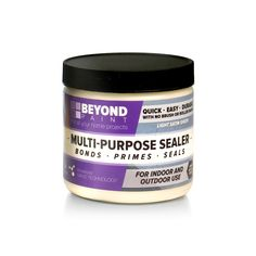 BEYOND PAINT™ Multi-Purpose Sealer is a safe, water-based, interior/exterior sealerformulated to protect your most challenging BEYOND PAINT™ projects.  Use oncountertops, Indoor/outdoor furniture and any project that requires extra-strengthdurability or weatherproofing. Engineered with easy touch up and self-levelingtechnology for a smooth, no brush mark and lasting finish.