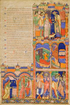 Scenes from the Life of Samuel   Leaf from the Winchester Bible   Illuminated by the Master of the Morgan Leaf   ca. 1160–80   The Morgan Library & Museum