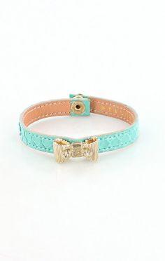 Pleasure Leather Armband/Bracelet w/Bow by Stylesnob