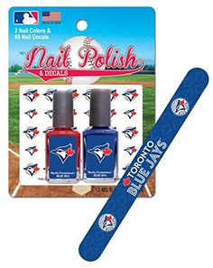 MLB Toronto Blue Jays Nail Polish with Decal and File, 8 x 4.75 x 1.25-Inch, White Worthy Promotional http://www.amazon.com/dp/B00NI23DJC/ref=cm_sw_r_pi_dp_UwFivb1GTMZF1