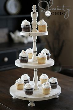 DIY Shanty Cupcake Tower