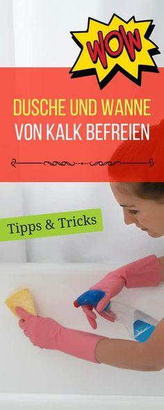 Haushalt - Tipps + Tricks - Geld sparen Tricks zum richtigen reinigen von Dusch- und Badewanne | Haushaltsfee.org