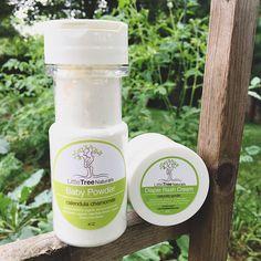 2pc Baby Bundle: Baby Powder and Diaper Rash Cream- Vegan/ Gentle/ Sensitive Skin/ All Natural Homemade/ Organic