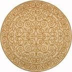 Chelsea Ivory/Gold 3 ft. x 3 ft. Round Area Rug