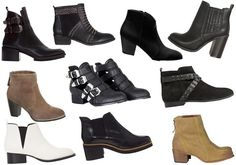 botines Shoe Boots, Shoes, Wedges, Ankle, Black, Closet, Fashion, Templates, Over Knee Socks