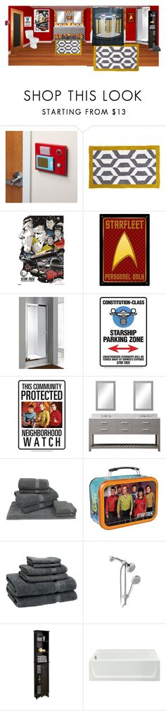 """""""Where no one has gone before"""" by sterlingkitten on Polyvore featuring interior, interiors, interior design, home, home decor, interior decorating, ThinkGeek, Jonathan Adler, Vandor and HotelSpa"""