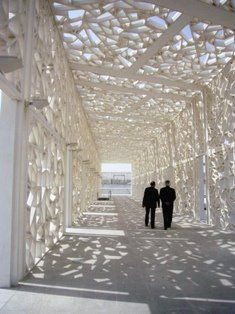 lacy  shaded walkway