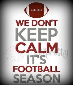SAMPLE SALE   Don't Keep Calm Football Season Shirt or Onesie on Etsy, $16.00