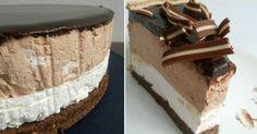 Fantastická pruhovaná torta so smotanovým syrom a kakaom!