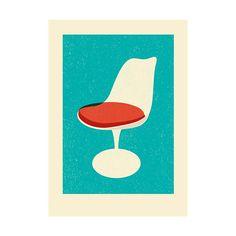 Print White Chair Modern Home från Magpie @ Hipstore