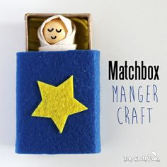 Baby in a matchbox manger craft - so sweet and very easy to make by The Craft Train