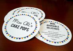 Miss Ali's Cake Pops business cards