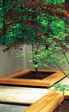 bench planter bed seating