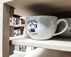 #kilnwatch Porcelite for @shropshirecoffeeltd #customprintedcrockery
