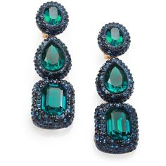 Oscar de la Renta Jewel Drop Clip-On Earrings (1.685 BRL) ❤ liked on Polyvore featuring jewelry, earrings, oscar de la renta, jeweled earrings, clip earrings, oscar de la renta earrings and swarovski crystal jewelry