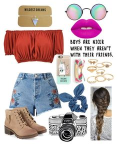 """""""Boys are nicer when they aren't with their friends"""" by pooky-bear86 ❤ liked on Polyvore featuring Kate Spade, Reclaimed Vintage, Mudd, Boohoo, Miss Selfridge, Casetify, Lime Crime and Dorothy Perkins"""