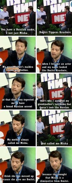 Misha on his Russian name(s)