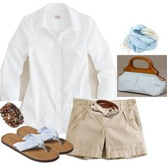 Nice, but the WHITE flip flops and purse of a bit much.......