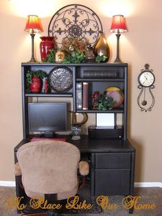 Today, I& like to share some new vignettes out in our front room. I get bored after awhile and need a new look. Here is the foyer tab. Home Office Design, House Design, Office Designs, Decorating Above Kitchen Cabinets, Kitchen Decor, Tuscan Design, Tuscan Style, Tuscan Decorating, Decorating Ideas