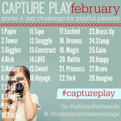 Are you on Instagram? You have to follow this hashtag #captureplay and join in on the daily prompts for play.