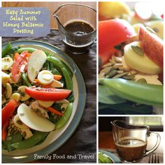 Easy Summer Salad with Honey Balsamic Dressing - Family Food And Travel
