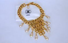 Vintage CHANEL Massive Chain Pearl Drop Necklace on Etsy, $3,155.80 AUD