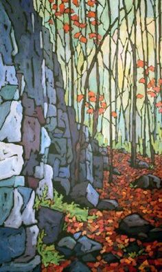 They all fall downacrylic painting60 x 36 inches by Jennifer Woodburn