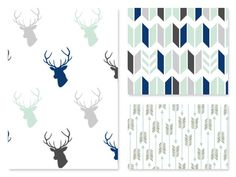 Design Your Own Navy Blue Grey Mint Aqua // Bears by GRACEandCRUZ Baby Boy Rooms, Baby Things, Nursery Ideas, Design Your Own, Baby Quilts, Blue Grey, Bears, Chevron, Aqua