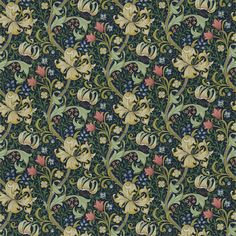 The Original Morris & Co - Arts and crafts, fabrics and wallpaper designs by William Morris & Company | Products | British/UK Fabrics and Wallpapers | Golden Lily (DMFPGL204) | Morris Fabric Compilation