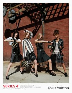 Sarah Brannon, Rianne Van Rompaey, Jean Campbell and Jaden Smith by Bruce Weber for Louis Vuitton Spring Summer 2016 Ad Campaign