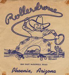 Rollerdrome - Phoenix, Arizona Looks to be long gone Roller Rink, Roller Derby, Roller Disco, Vintage Advertisements, Vintage Ads, Roller Skating Pictures, Surfboard Skateboard, Skate Photos, Vintage Magazine